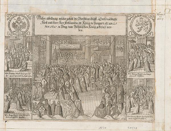 Georg Keller – Korunovácia Ferdinanda III. za českého kráľa v roku 1627