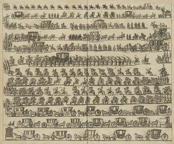 Nemecký grafik z 1. polovice 18. storočia, Fchr. P. – Usporiadanie sprievodu Karola VI. (2. časť)