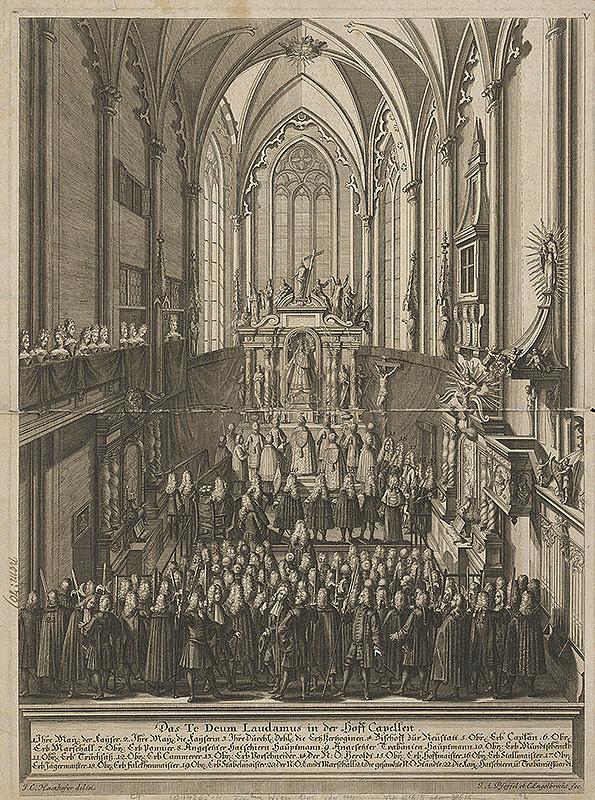 Johann Andreas Pfeffel, Christian Engelbrecht, Johann Cyriak Hackhofer – Slávnostné Te Deum v Dvorskej kaplnke pri príležitosti Oslavy následníka Karola VI.