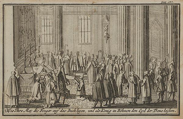 Nemecký grafik z 1. polovice 18. storočia - Korunovačný výjav I.