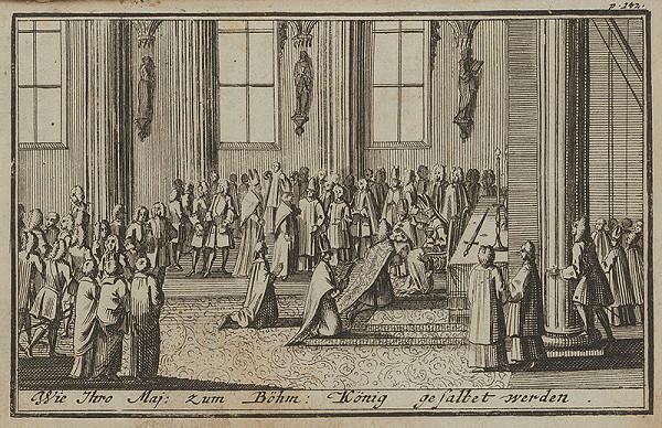 Nemecký grafik z 1. polovice 18. storočia – Korunovačný výjav II.