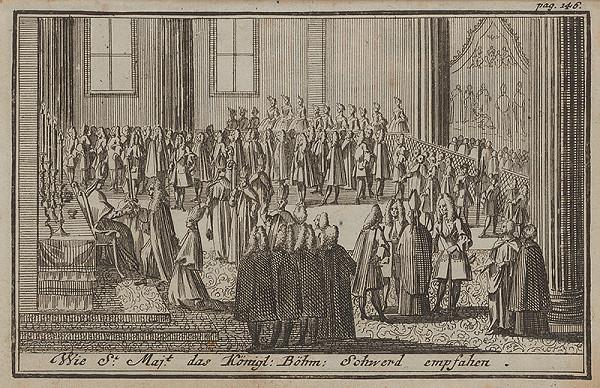 Nemecký grafik z 1. polovice 18. storočia - Korunovačný výjav III.