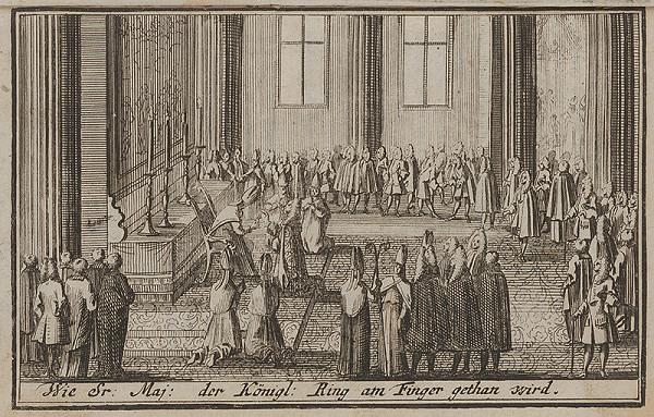 Nemecký grafik z 1. polovice 18. storočia - Korunovačný výjav IV.