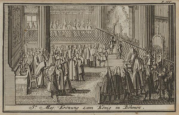 Nemecký grafik z 1. polovice 18. storočia – Korunovačný výjav VI.