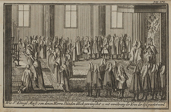 Nemecký grafik z 1. polovice 18. storočia – Korunovačný výjav VII.