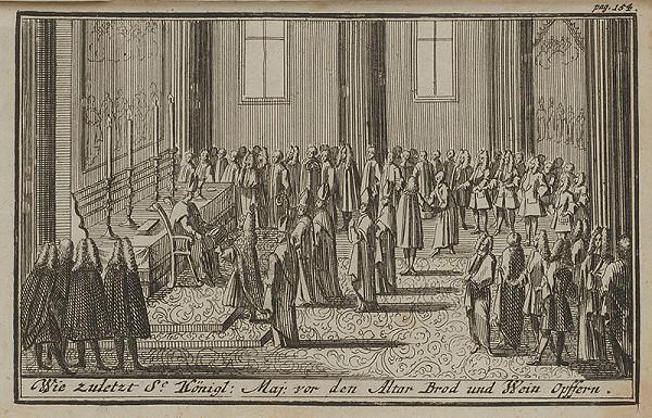 Nemecký grafik z 1. polovice 18. storočia – Korunovačný výjav VIII