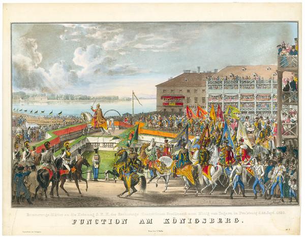 Eduard Gurk – Korunovácia Ferdinanda V. v Bratislave, prísaha na korunovačnom pahorku