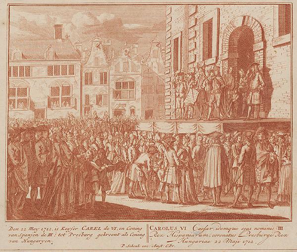 Pieter Schenck – Korunovácia Karola VI. v Bratislave