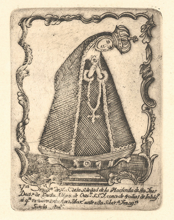"""Neznámy autor – Madona """"so sklonenou hlavou"""" (Madonna de la Soledad)"""