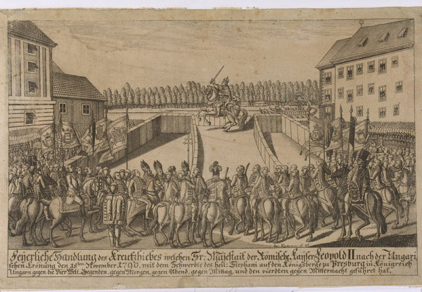 Jos. Kummer, Neznámy rytec – Korunovácia Leopolda II. v Bratislave