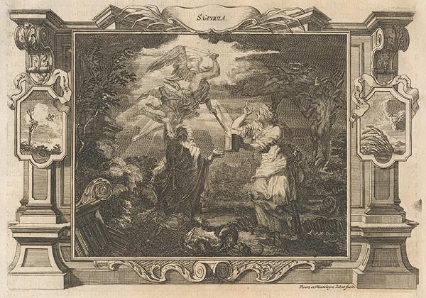 Michael Heinrich Rentz, Johann Daniel de Montalegre – Anjel rozsvecuje svetlo svätej Gudule