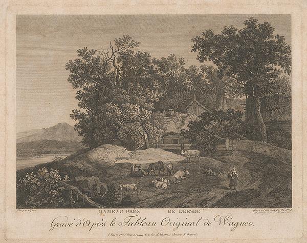 Carl Wilhelm Weisbrod, Johann Georg Wagner – Dedinská krajinka
