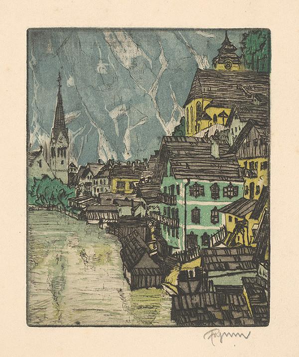 Stredoeurópsky grafik z 1. polovice 20. storočia – Pohľad na mesto