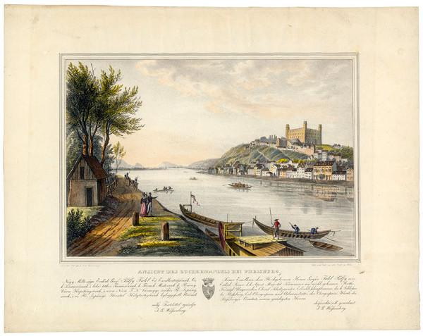 Ignaz Josef Weissenberg - Pohľad na Bratislavu z juhu (Pohľad na Zuckermandel)