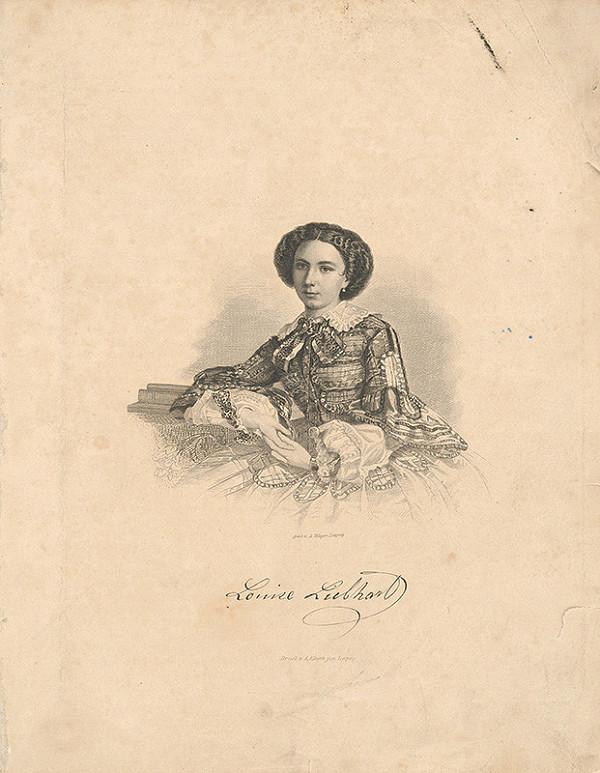 August Weger – Portrét Lujzy Liebhartovej