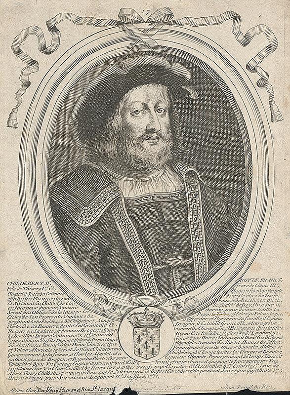 Nicolas de Larmessin – Childebert II. - francúzsky kráľ