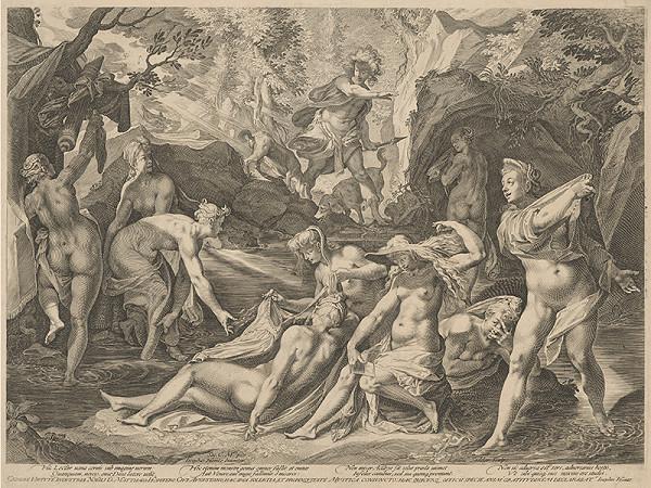 Aegidius Sadeler II., Jospeh Heintz st. – Diana a Actaeon