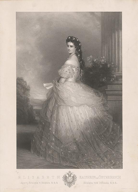 Louis Jacoby, Franz Xaver Winterhalter - Portrét cisárovnej Alžbety