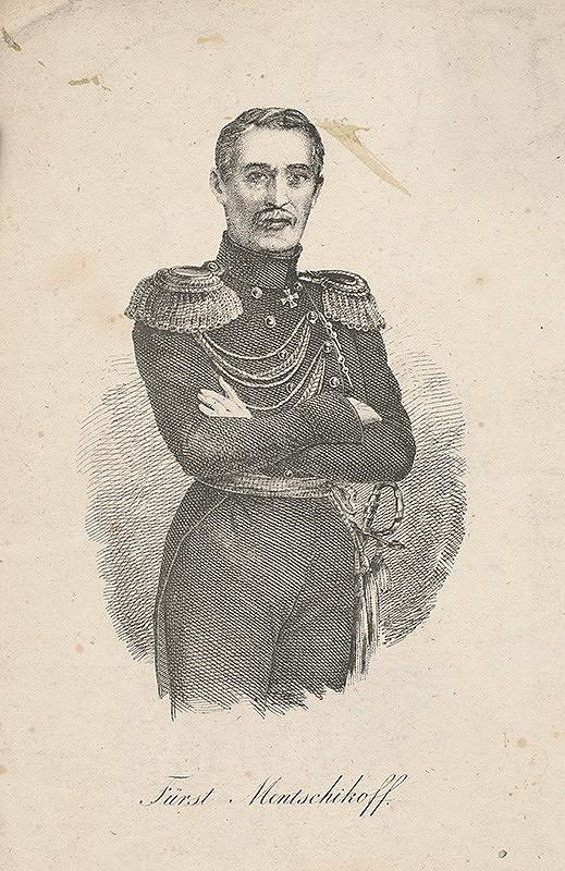 Stredoeurópsky grafik z konca 19. storočia - Portrét Menšikova