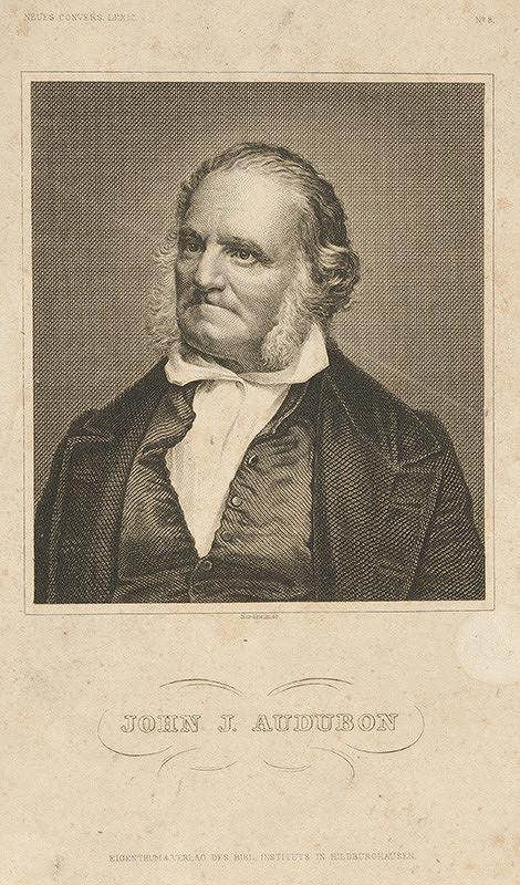 Johann Georg Nordheim - Portrét J.J.Audubona