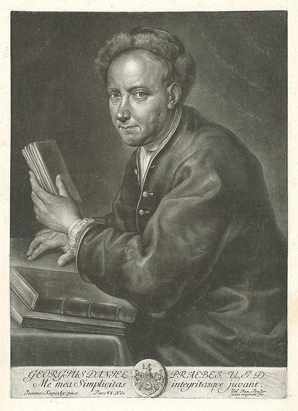 Valentin Daniel Preisler, Ján Kupecký - Portrét norimberského advokáta Georgiusa Daniela Praebesa