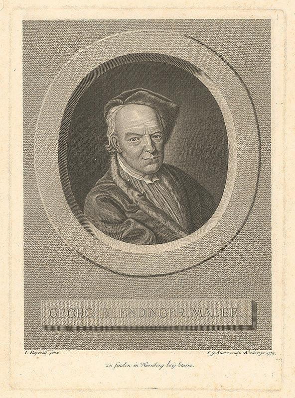 Ján Kupecký, Johann Georg Sturm - Portrét maliara Georga Blendingera