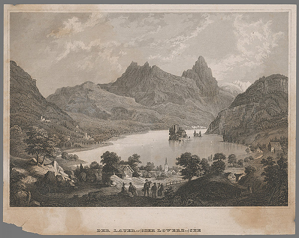 Stredoeurópsky grafik z 19. storočia - Lowerské jazero