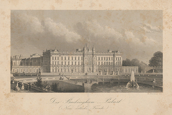 Henry Winkles – Buckinghamský palác v Londýne