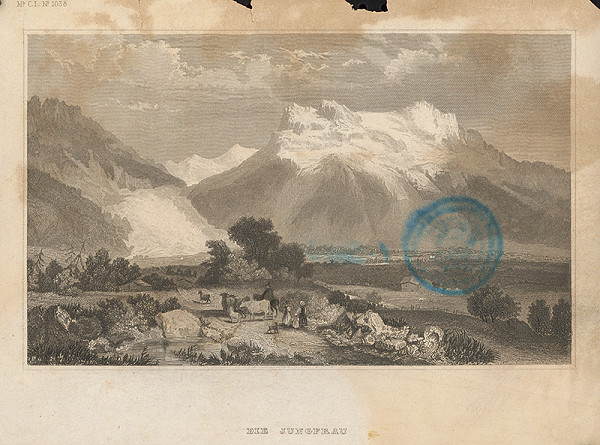 Stredoeurópsky grafik z 19. storočia - Krajinka