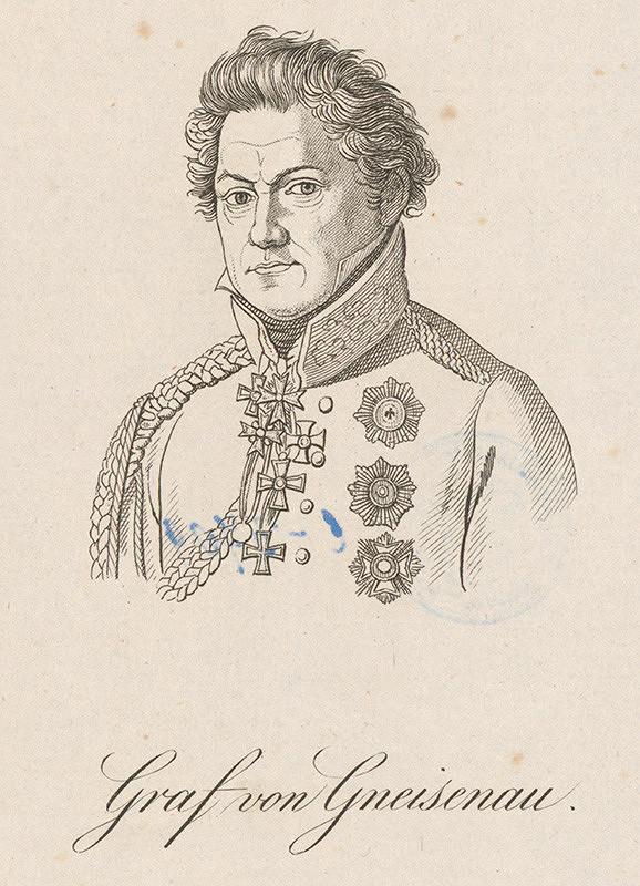 Stredoeurópky grafik z prelomu 18. - 19. storočia – Portrét grófa von Gnesisenaua