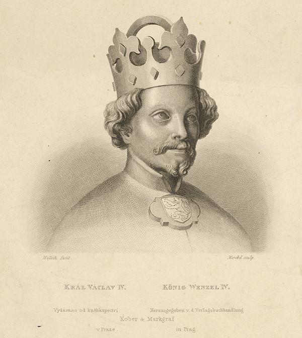 Josef Vojtěch Hellich, Carl Gottlieb Merckel – Portrét kráľa Václava IV.