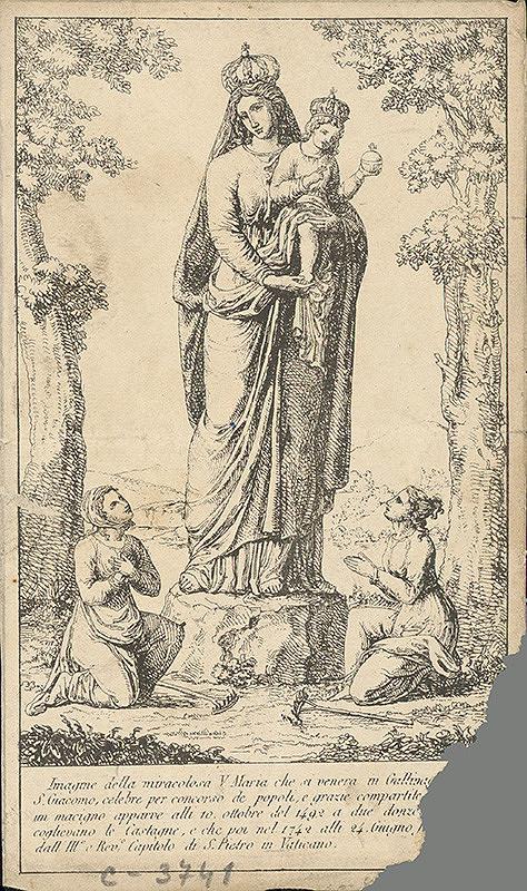 Taliansky grafik z 18. storočia – Madonna s dieťaťom