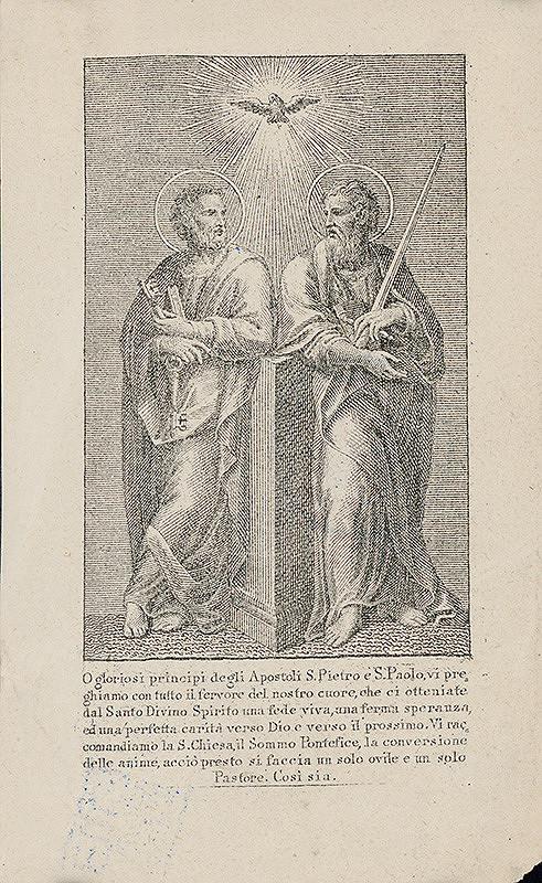 Stredoeurópsky grafik z 19. storočia – Svätý Peter a Pavol