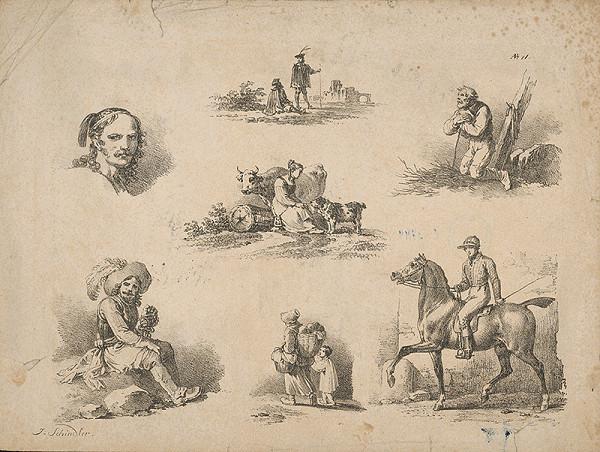 Johann Josef Schindler - Žánrové obrázky