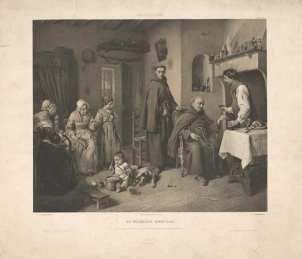 Rudolf Hoffmann, Leopold Löffler - Priateľské pohostenie