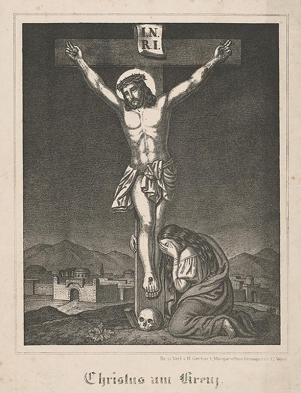 Stredoeurópsky grafik z 19. storočia – Kristus na kríži
