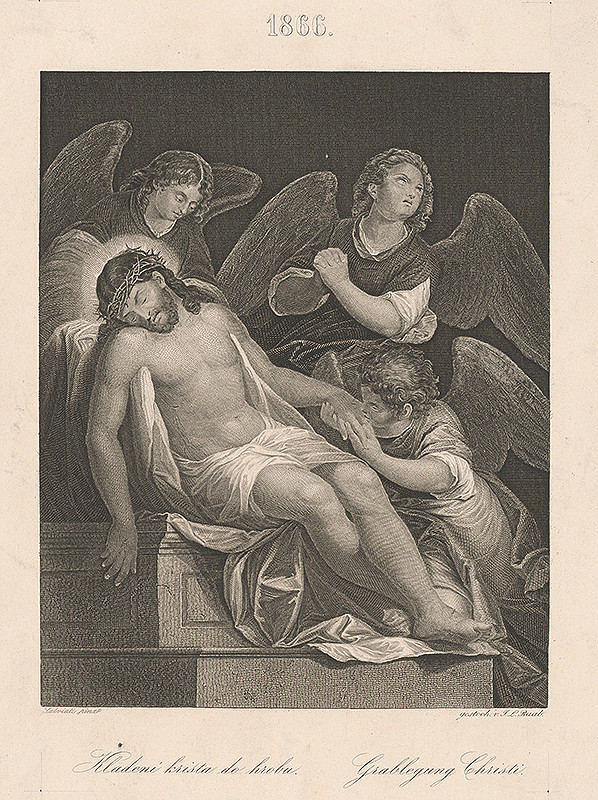 Johann Leonhard Raab, Giuseppe Salviati – Kladenie Krista do hrobu