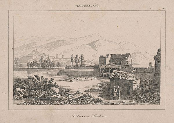 Stredoeurópsky grafik z 19. storočia - Krajina z Grécka