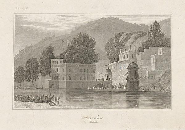 Stredoeurópsky grafik z 19. storočia – Hurduwar v Indii