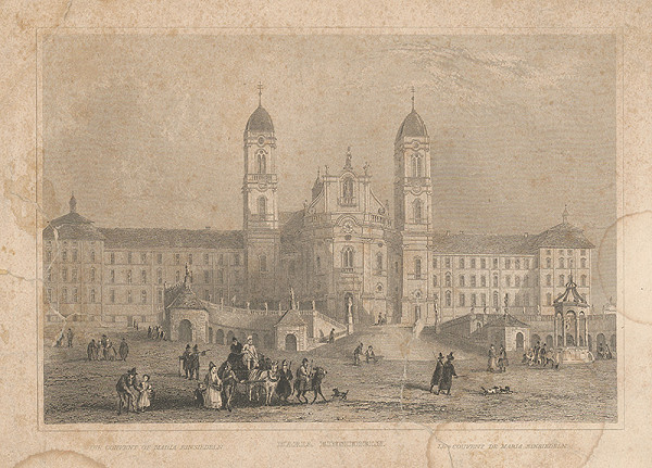 Stredoeurópsky grafik z 19. storočia – Kláštor Márie Einsiedeln
