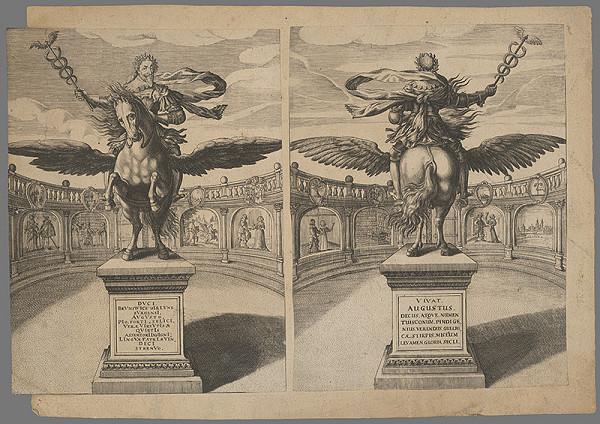 Stredoeurópsky grafik z prelomu 17. a začiatku 18. storočia - Socha brunsvického vojvodu Augusta