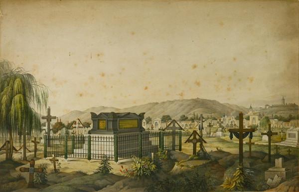 Stredoeurópsky grafik z 19. storočia – Cintorín