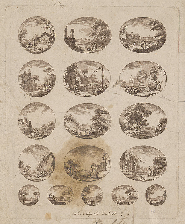 Rakúsky grafik z 19. storočia - Viedenské pohľady