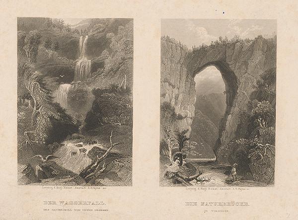 Albert Henry Payne - Dvojobraz: Vodopád a prírodný most