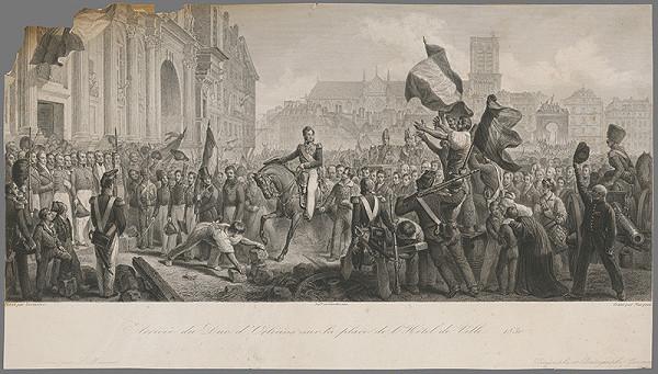 Jean Denis Nargeot, F. Lariviére - Prijatie kniežaťa z Orleánsu na radničnom námestí