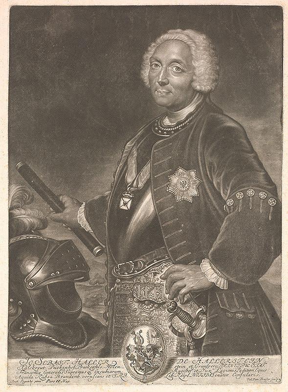Valentin Daniel Preisler, Ján Kupecký - Johann Sebastian Haller von Hallerstein (1684-1745)