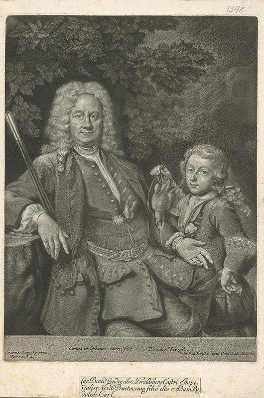 Valentin Daniel Preisler, Ján Kupecký - Karl Benedikt von Geuder-Heroldsberg so synom Adamom Rudolfom Karolom