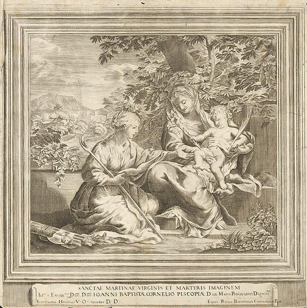 Pietro da Cortona, Neznámy rytec – Madona s dieťaťom a klaňajúca sa sv. Martina