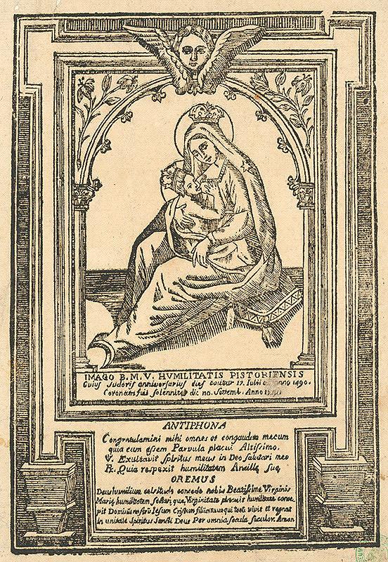 Stredoeurópsky grafik z 18. storočia – Milosrdný obraz Panny Márie Dojčiacej v Pistoii