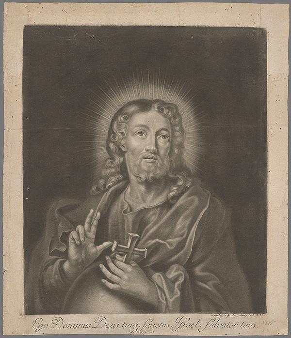 Nemecký grafik z 18. storočia – Poprsie Ježiša